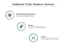 Healthcare Public Relations Services Ppt Powerpoint Presentation Summary Cpb