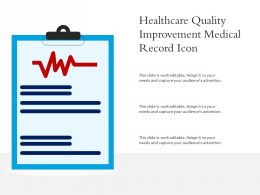 Healthcare Quality Improvement Medical Record Icon