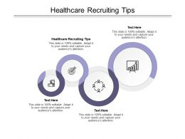Healthcare Recruiting Tips Ppt Powerpoint Presentation Infographic Template Slideshow Cpb