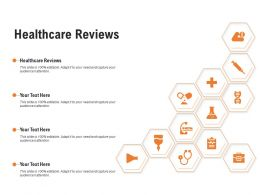 Healthcare Reviews Ppt Powerpoint Presentation Inspiration Format