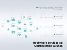 Healthcare Services Ad Customization Solution Ppt Powerpoint Presentation Icon