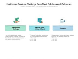 Healthcare Services Challenge Benefits Of Solutions And Outcomes