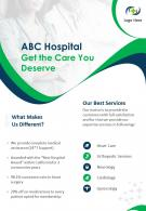 Healthcare Services Company Two Page Brochure Template