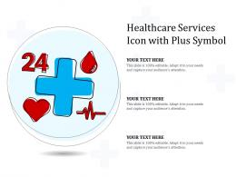 Healthcare Services Icon With Plus Symbol