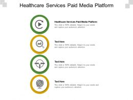Healthcare Services Paid Media Platform Ppt Powerpoint Presentation Tips Cpb