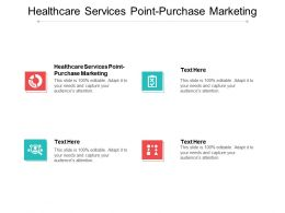 Healthcare Services Point Purchase Marketing Ppt Powerpoint Presentation File Deck Cpb