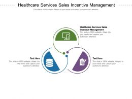 Healthcare Services Sales Incentive Management Ppt Powerpoint Presentation Influencers Cpb