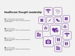 Healthcare Thought Leadership Ppt Powerpoint Presentation Ideas Outfit