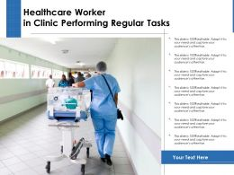 Healthcare Worker In Clinic Performing Regular Tasks