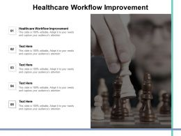 Healthcare Workflow Improvement Ppt Powerpoint Presentation Backgrounds Cpb