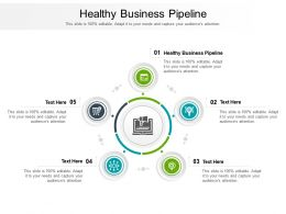 Healthy Business Pipeline Ppt Powerpoint Presentation Show Vector Cpb