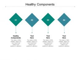 Healthy Components Ppt Powerpoint Presentation Infographics Graphic Images Cpb