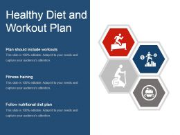 Healthy Diet And Workout Plan Powerpoint Templates