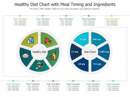 Healthy Diet Chart With Meal Timing And Ingredients Infographic Template