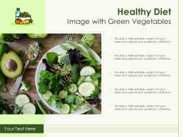 Healthy Diet Image With Green Vegetables Infographic Template