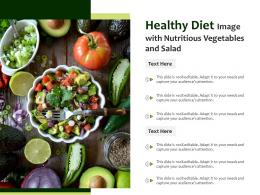 Healthy Diet Image With Nutritious Vegetables And Salad Infographic Template