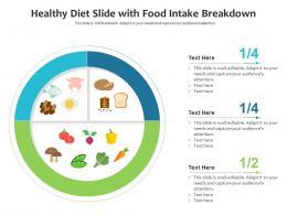Healthy Diet Slide With Food Intake Breakdown Infographic Template