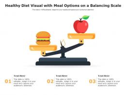 Healthy Diet Visual With Meal Options On A Balancing Scale Infographic Template