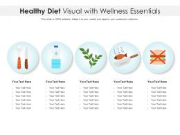 Healthy Diet Visual With Wellness Essentials Infographic Template