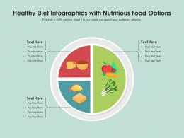 Healthy Diet With Nutritious Food Options Infographic Template
