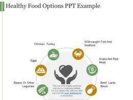 Healthy Food Options Ppt Example
