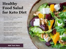 Healthy Food Salad For Keto Diet