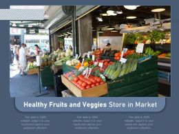 Healthy Fruits And Veggies Store In Market