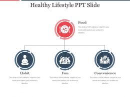 Healthy Lifestyle Ppt Slide