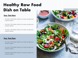 Healthy Raw Food Dish On Table