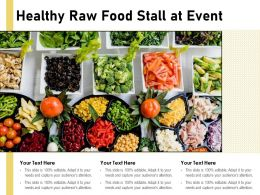 Healthy Raw Food Stall At Event