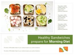 Healthy Sandwiches Prepare For Morning Diet