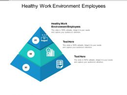 Healthy Work Environment Employees Ppt Powerpoint Presentation Model Objects Cpb