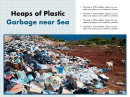 Heaps Of Plastic Garbage Near Sea