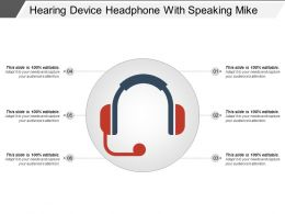 Hearing Device Headphone With Speaking Mike