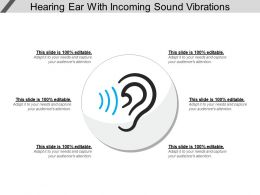 Hearing Ear With Incoming Sound Vibrations