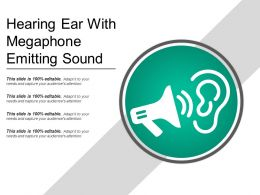 Hearing Ear With Megaphone Emitting Sound
