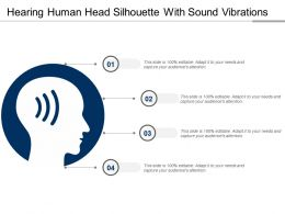 Hearing Human Head Silhouette With Sound Vibrations
