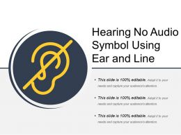 Hearing No Audio Symbol Using Ear And Line