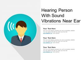 Hearing Person With Sound Vibrations Near Ear