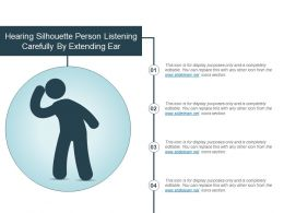 Hearing Silhouette Person Listening Carefully By Extending Ear