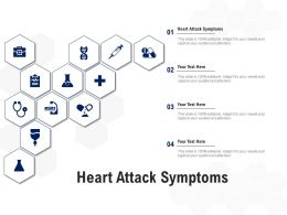 Heart Attack Symptoms Ppt Powerpoint Presentation Portfolio Elements