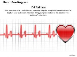 Heart Cardiogram PowerPoint Template Slide