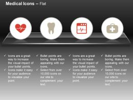 Heart Ecg Line Teeth First Aid Box Ppt Icons Graphics