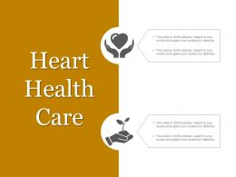 Heart Health Care Ppt Example 2018