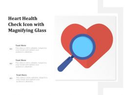 Heart Health Check Icon With Magnifying Glass