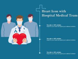 Heart Icon With Hospital Medical Team