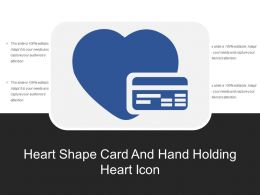 Heart Shape Card And Hand Holding Heart Icon
