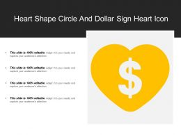 Heart Shape Circle And Dollar Sign Heart Icon