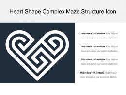Heart Shape Complex Maze Structure Icon