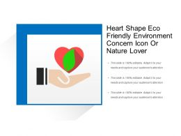 Heart Shape Eco Friendly Environment Concern Icon Or Nature Lover